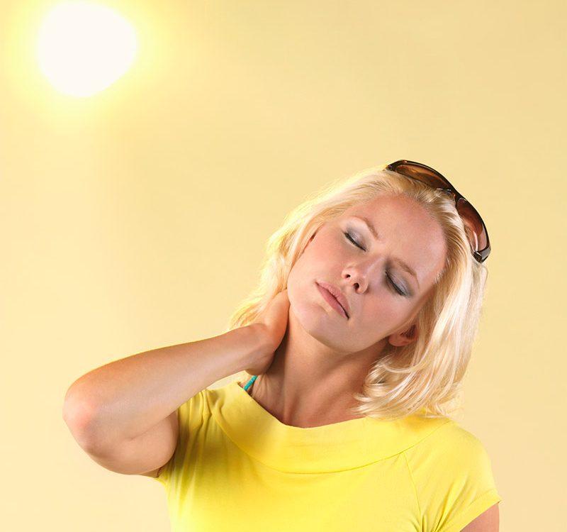 שמירה על החלקת שיער בשמש
